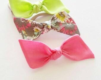 Baby nylon headbands set {Madison} baby bows