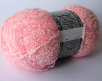 Pink Fuzzy Yarn, Light Pink Soft Fluffy Yarn, Fancy Pink Acrylic Yarn, Furr Yarn, Furry Yarn Blend, Pink Fluffy Yarn
