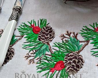 Christmas Machine Embroidery Design Cones