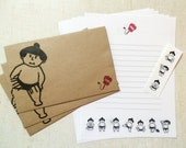 Japanese Sumo Letter Set