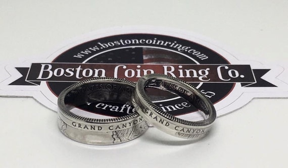 Silver National Parks coin ring (free shipping)