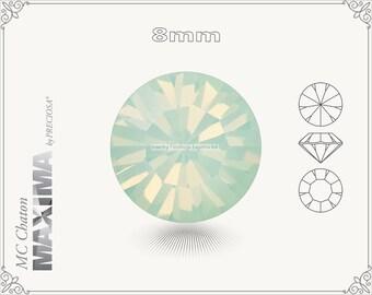 6 pc.+ SS39 (8mm) Preciosa MC Chaton MAXIMA - Chrysolite Opal Color