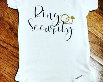 Ring Security Ring Bearer Onesie or Toddler T Shirt Outfit