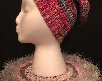 Slouchy Beanie (Crocheted)