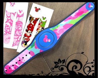 Lilly Pulitzer Magic Band SKIN Vinyl Decal Quick To Ship - Magic band vinyl decals