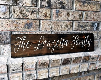 Family Name Sign | Personalized Sign | Custom Name Sign | Last name sign | Family Signs | Personalized wedding gifts | house warming gifts