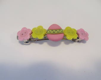 Easter Egg Barrette Button Barrette Easter Gifts Gifts for her Gifts for girls Hair Accessories Hair Clips
