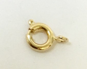 18 K Gold filled Spring Ring   Gold filled clasp.  5 mm Clasp