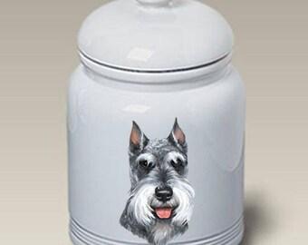 Schnauzer Ceramic Treat Jar