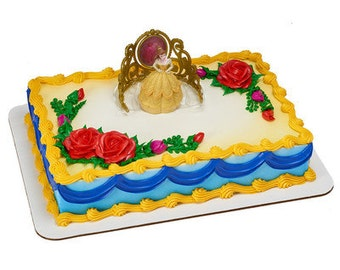 BEAUTY and the BEAST Cake Topper Decoration Princess BELLE Beautiful as a Rose