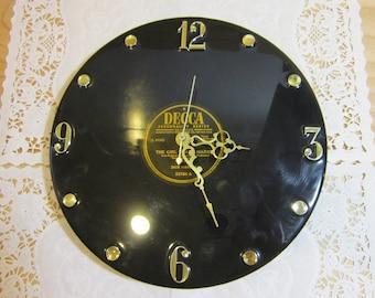 Vintage Decca Vinyl Record Wall Clock