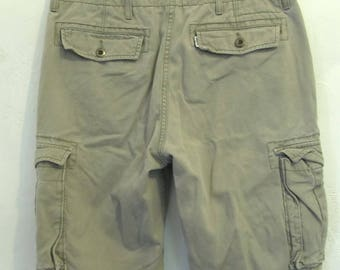 Mens Vintage Gray Colored HIP H0P era CARGO Shorts By LEVI'S.29