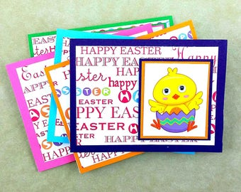 Easter Notecards, Set of 5, Bunny Notecards, Handmade Easter Notecard, Blank Easter Notecards, Box Set Cards, Spring Cards, Gift for Easter