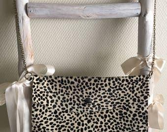 """Leopard"" leather bag"