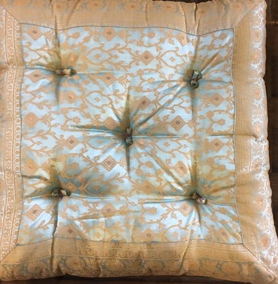 Baby Blue floor pillow moroccan floor pillow by TaraDesignLA