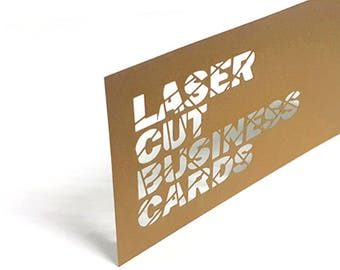 Personalized Laser Cut Business Cards