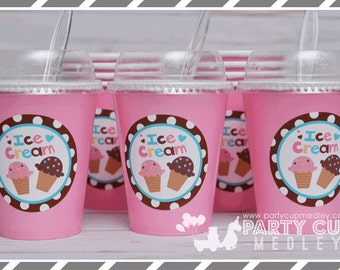 Set of 8-Ice Cream Social Cups