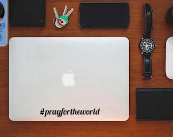 Pray for the world Macbook / Laptop Vinyl Decal