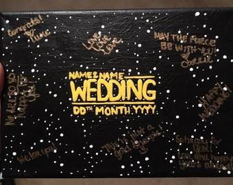 Wedding Guestbook Alternative | Nerdy Geeky Wedding | Canvas Signature Guestbook | Unique Guestbook | Star Wars Themed Wedding