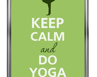 Keep calm and do yoga - Art Print - Keep Calm Art -  Prints - Posters - Motivational quotes - Motivational quotes - Keep Calm Poster