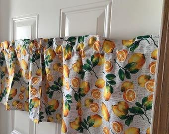 Oranges Fruit  kitchen Curtain Valance