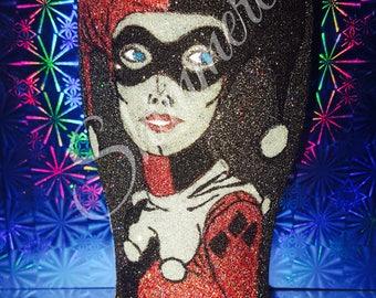 Harley Quinn glass