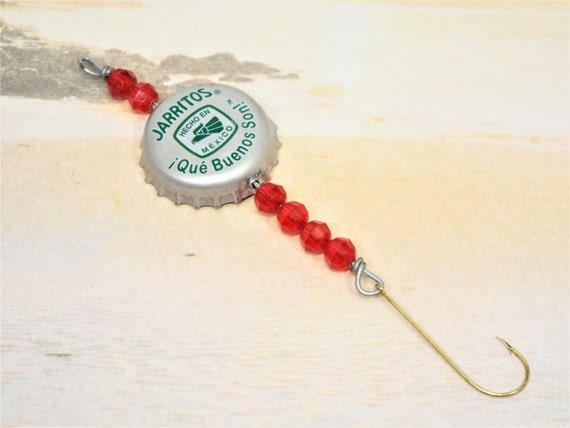 Beer bottle cap fishing lure by daddysboat on etsy for Bottle cap fishing lure