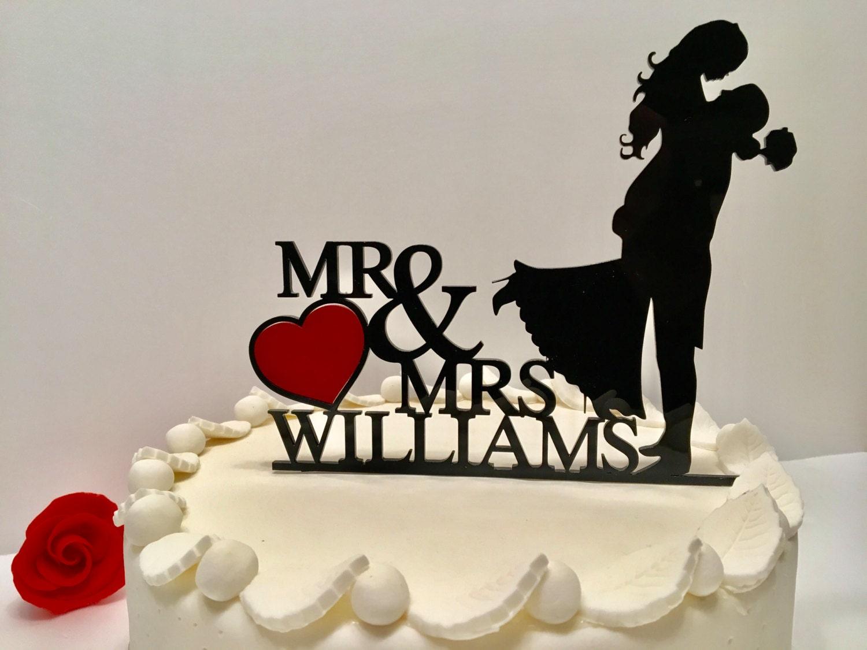Mr And Mrs Johnson Cake Topper