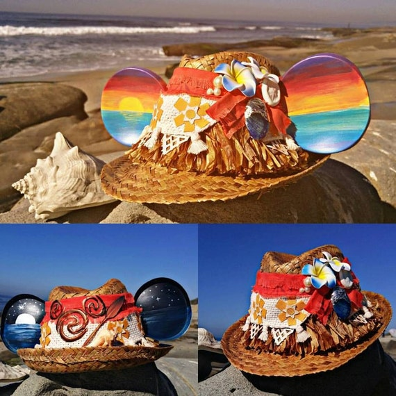 Moana Mickey. Hawaiian Mickey Ears. Moana Ears.
