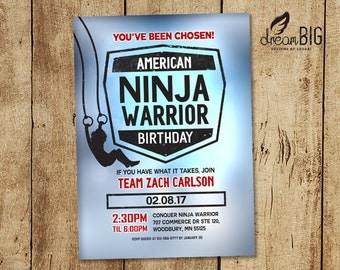 American Ninja Warrior Birthday // Party Invite // Boy or Girl // Digital DIY PDF or JPEG