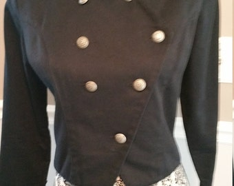 Lilia Smitty Western Wear Black Denim Studded Jacket. Size Small.