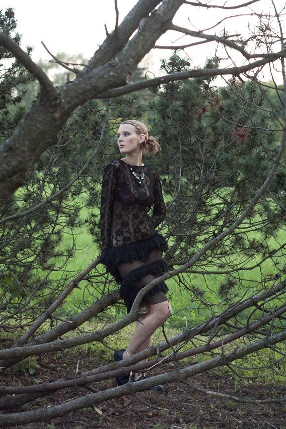 Wiggle dress/black dress/lace dress/black lace dress/women lace dress/women black lace dress/women black lace dress with ruches