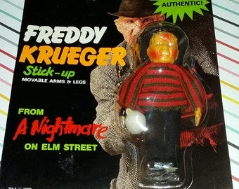 1988 Nightmare on Elm Street Freddy Krueger Suction Cup Figure on Damaged Card
