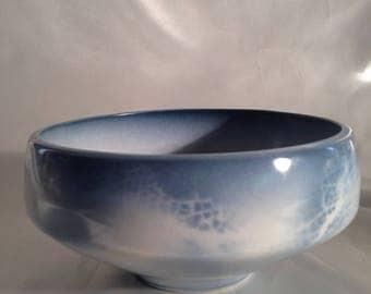 Studio Art Pottery Blue Bowl Signed M Coplin/M Coplin ceramic pottery Newbury Pottery/Newbury Art Pottery Massachusetts/Blue Art Pottry bowl