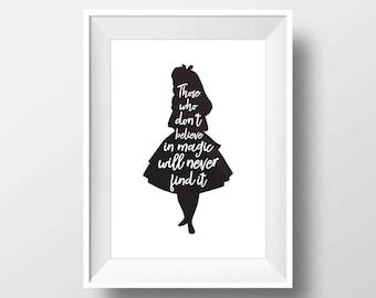Alice in wonderland, Alice in wonderland wall art, Alice in wonderland decorations, Alice Quote, Lewis Carroll, Wonderland theme, Wonderland
