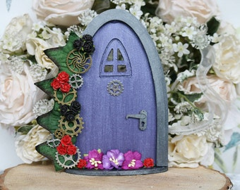 Steam punk inspired fairy door.