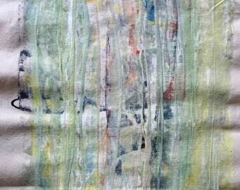 "13.5"" x 30"" original abstract acrylic painting"