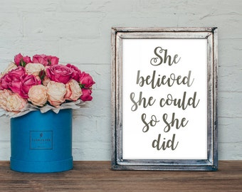 Motivational A4 quote print - gift-home decor -gift