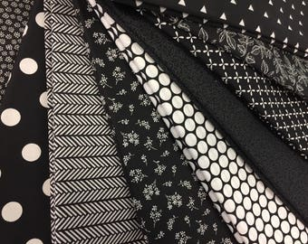 Black & White Fabric Bundle - 9 YARDS of Fabric!