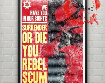Star Wars Imperial Propaganda Poster