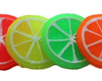 Lemon slice Soap,Citrus Slice Soap, Glycerin soap,Summer Soap, Fruit slice, Grapefruit, Orange Wedges, food soap, novelty soap, party favors