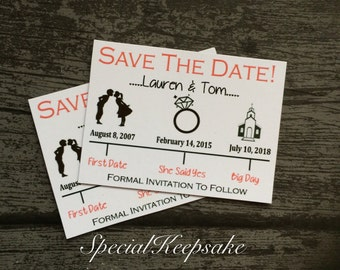 save the date magnet   etsy, Wedding invitations