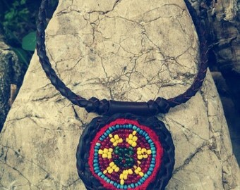 NECKLACE ethnic KUCHI, boho, hippie, tribal