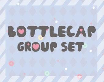 Set of bottlecap charms group (MINUS logo)