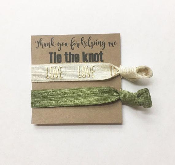 Bridesmaid hair tie favors//hair tie card, hair tie favor, bachelorette party, wedding, bridesmaid hair ties, bridesmaid box, bride