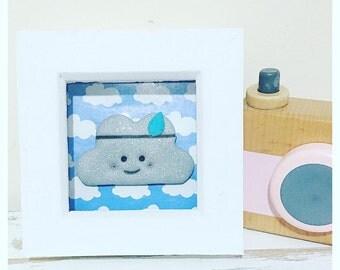 Cloud frame. Brave wandering cloud frame. Cloud nursery frame. Cloud gift.