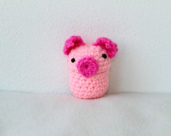 Pig coin purse, Pig pill box, Pig pouch, Made in Italy, Birthday gift, Teenager gift, Pig gift, Crocheted animal, Crocheted pig, Funny gift