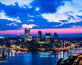 Pennsylvania, Pittsburgh, Large Wall Art, City Pictures, Pittsburgh Skyline, East Coast, Pittsburgh Decor, Pittsburgh Art, Pittsburgh Photo