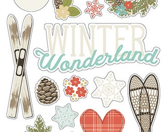 Simple Stories Winter Wonderland Chipboard Stickers | Perfect for your journals and planners!
