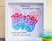 3D butterfly picture Gift for women gifts for her gift for mum gift for friend pastel butterfly inspirational quote positive gift